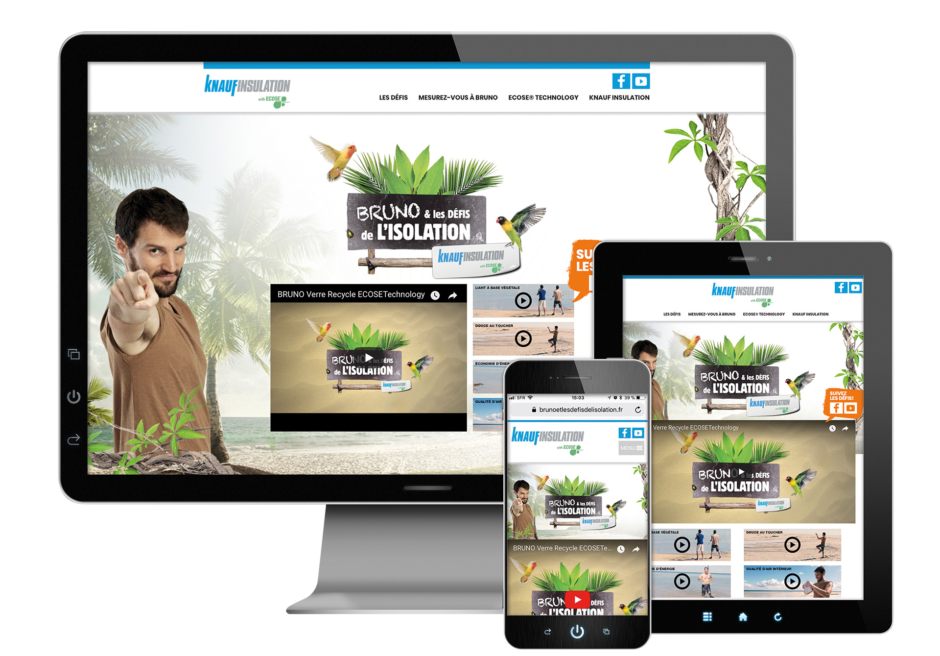 Site web Responsive Design by Convergence